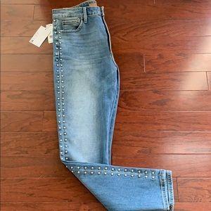 Joes jeans charlie studded high waisted ankle jean